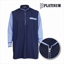 PLATINUM BIG SIZE Microfiber Kurta With Zip Mix  & Match PM9153 (Navy)