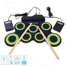 Roll-up Portable Foldable Silicone Electronic Drum Pad Kit Digital USB
