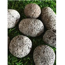 18KG BLACK LAVA COLOR PEBBLE STONE GARDEN LANDSCAPE DECOR