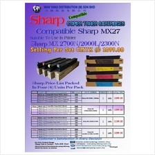 Sharp MX 2700N/2000L/2300N Compatible COLOR Copier Toner Cartridges
