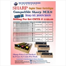 Sharp MX 2600N/3100N Compatible COLOR Copier Toner Cartridges