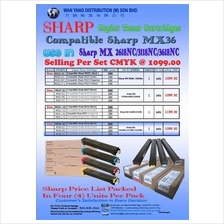 Sharp MX2618NC/3118NC/3618NC Compatible CMYK Copier Toner Cartridges