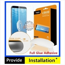 T-MAX Full Glue Adhesive UV Galaxy Note 8 S9 S8 Plus Tempered Glass