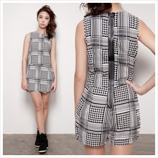 High Quality Geneva Square Casual Skater Playsuit Sleeveless Jumpsuit
