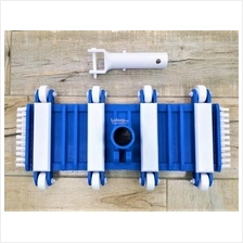 14' Swimming Pool Vacuum Head with Roller & Side Brush