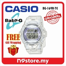 97ac9c78a504 Casio Baby-G BG-169R-7E Digital Ladies Jelly White Color Sports Watch