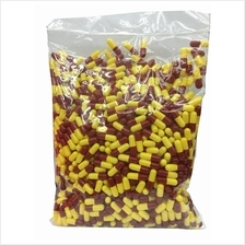 EMPTY GELATIN CAPSULES RED YELLOW COLOUR 1000S (HALAL) X 2 PACKS