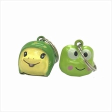 Cat & Dog Collar Bell Cartoon Design Green 2pc