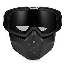 BOLLFO BF656 MOTORCYCLE MASK GOGGLES FOR MOTOCROSS RIDING (GRAY)