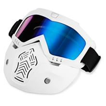 BOLLFO MT - 01 MOTORCYCLE MASK GOGGLES FOR MOTOCROSS SKIING (BLUE)