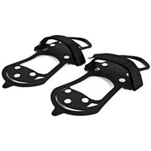 2PCS NON-SLIP 10 STUDS SNOW SHOES SPIKES GRIPS CRAMPONS BOOT COVER OVE