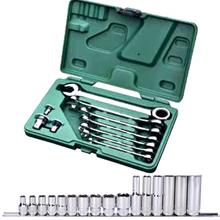 SATA 09081T520 DR. Socket Set+Double Ratcheting Wrench Adaptor