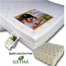 "Bumble Bee - Babycot Latex Mattress 28"" x 52"" x 2""With Fitted Playpen"