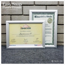 A4 Size Certificate Aluminium Easy Snap Poster Frame