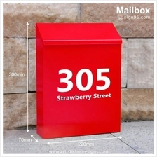 Carte Postale Powder Coated Metal Mailbox For Home & Office