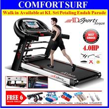 4.0HP ADSports AD928 Motorize Electric Treadmill Auto/ None Incline
