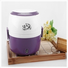 Mini Multi-function Rice Cooker Electric Portable Travel Cooking Lunch Box