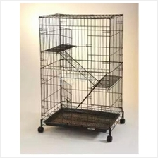 "8022L 2 Level Cat Cage Wrought Iron 23.5""(L) x 16.5""(W) x 36""(H) C344"