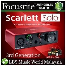 FOCUSRITE Scarlett Solo USB 2.0 Audio Interface Version 2 (2nd Generat