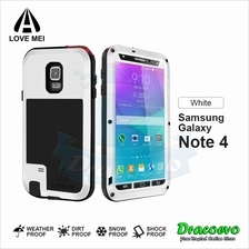 LOVE MEI Powerful Protective Case for Samsung Galaxy Note 4 (White)