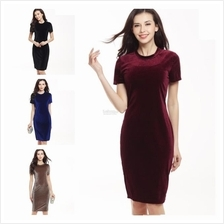 Women Dresses Long Blouse working maxi mini dress Girl