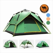 Tent Three-use 3-4 Person Large Tent Quick Open Camping Tent With Bag