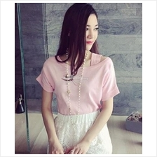 Women's Short-sleeved Slim wild Shoulder Strap Shirt