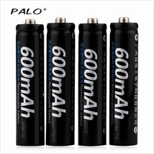 PALO 4PCS AAA 1.2V 600MAH RECHARGEABLE NI-MH BATTERY (BLACK)