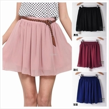 Women's Stretch High Waist Maxi Skirts Short Skirt pendek