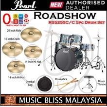 Pearl Roadshow RS525SC/C 5-piece Drum Set Package (Charcoal Metallic)