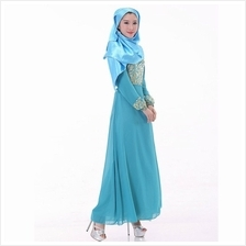 CHARMING JUBAH LIGHT BLUE