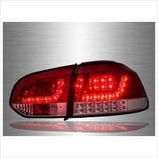 VOLKSWAGEN GOLF MK6 2008 - 2014 Red Clear LED Tail Lamp