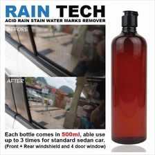 RAIN-TECH Rain Water Mark Remover Car Windscreen Window Cleaner *500ml