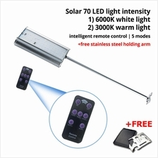 70 LED Waterproof Solar Motion Sensor Light With Smart Remote Control