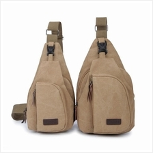 MB0001D Korean Men's Casual Canvas Chest Bag