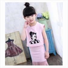 CC0015 New Summer Girls Clothes Cotton T-shirt & Skirt