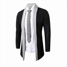 MS0176D Men No Button Cardigan Sweater Casual Cape