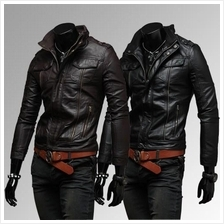 MS0157D New Zipper Motorcycle PU Leather Jacket