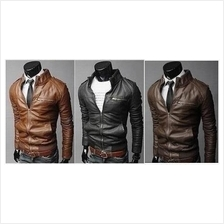 MS0131D New Korean Slim PU Leather Jacket