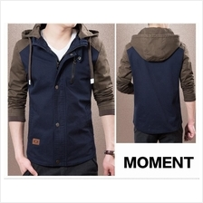 MS0025D Korean New Men's Casual Cotton Hooded Slim Jacket