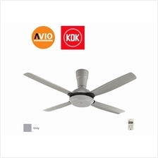 KDK K14X5-GY CEILING FAN 56' 56 inch 4 BLADE REMOTE 3 SPEED