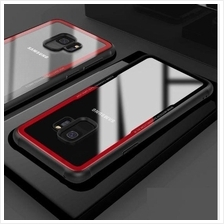 Samsung Galaxy S9 / S9 Plus Tempered Glass TPU Phone Case Cover Casing