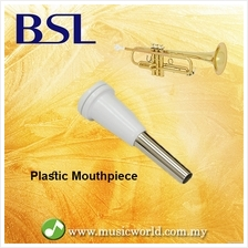 BSL Plastic Trumpet Mouthpiece White Practice Student Beginner Silver