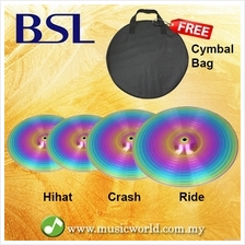 BSL Cymbal Set Crash Ride Hihat Colourful Cymbal For Drum Set With Cym