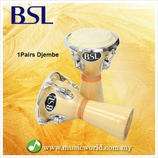 BSL Mini Djembe Drum 1 Pair Djembe Wooden Made Latin Percussion