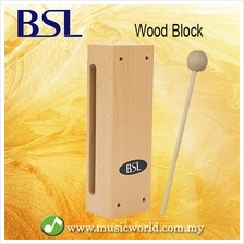 BSL Wood Block Percussion Wooden Two Sided Woodblock Music Instrument