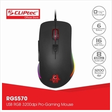 CLiPtec MAGKINOT USB RGB 3200dpi Pro-Gaming Mouse RGS570)