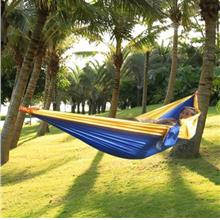 ONE PERSON ASSORTED COLOR PARACHUTE NYLON FABRIC HAMMOCK WITH STRONG R