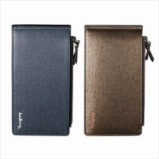 BAELLERRY 11 CARD SLOTS DOUBLE ZIP MENS WALLETS -  A0131