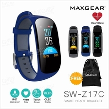 MAXGEAR Z17C PLUS Colour LED Heart Rate Fitness Tracker Smart Watch